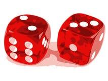 2 3 dice показывать Стоковая Фотография