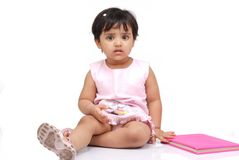 2-3 jaar oud babymeisje Stock Afbeelding