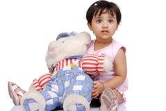 2-3 jaar oud babymeisje Stock Foto