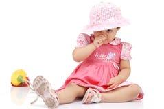 2-3 jaar oud babymeisje Stock Fotografie