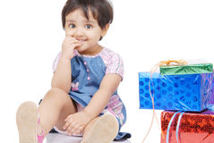 2-3 jaar oud babymeisje Royalty-vrije Stock Afbeelding