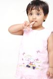 2-3 jaar oud babymeisje Royalty-vrije Stock Fotografie