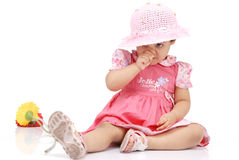 2-3 years old baby girl Stock Photography