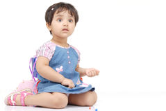 2-3 years old baby girl Stock Images