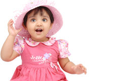 2-3 years old baby girl Royalty Free Stock Photos