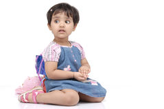 2-3 years old baby girl Stock Image