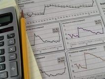 2研究股票 免版税图库摄影