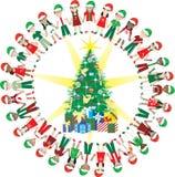 2 32 κατσίκια Χριστουγέννων &al Στοκ Εικόνες