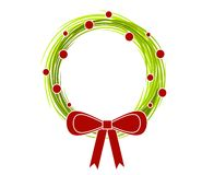 венок рождества 2 смычков деревенский Стоковое фото RF