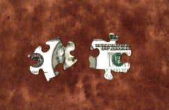 2货币难题 免版税库存图片