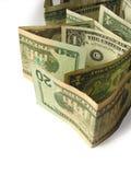 2 близких доллара вверх Стоковое Изображение RF