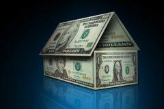 деньги 2 домов Стоковая Фотография RF