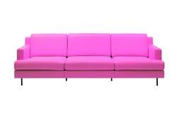 2桃红色沙发 库存照片