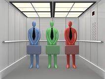2 3d电梯 库存例证