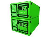 2 3d绿色服务器 免版税库存照片