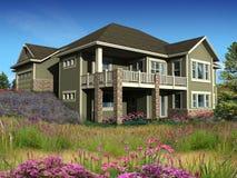 модель 2 уровня дома 3d Стоковые Фотографии RF