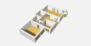 2 3d domowy visualisation royalty ilustracja