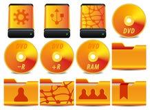 2 4个图标运算集系统 免版税库存图片