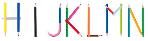 2 4个字母表铅笔 免版税库存图片