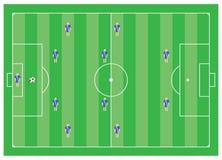 2 4个模式足球 皇族释放例证