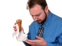 2 4 ломают обед дела стоковое изображение
