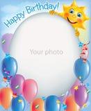 照片2的生日框架 免版税库存照片