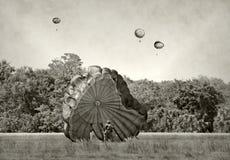 Παγκόσμιος πόλεμος 2 αλεξιπτωτιστές εποχής Στοκ εικόνα με δικαίωμα ελεύθερης χρήσης