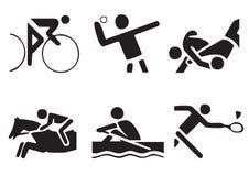 διάνυσμα 2 αθλητικών συμβόλων Στοκ φωτογραφία με δικαίωμα ελεύθερης χρήσης