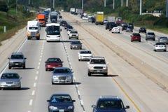 2条高速公路业务量 免版税库存照片