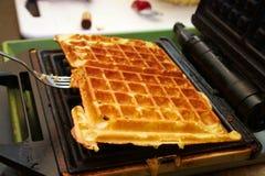 2 5烘烤的布鲁塞尔serie waffels 库存图片