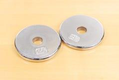 2.5 Pfund-Platten-Gewicht Lizenzfreies Stockbild