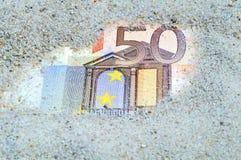 2 50 banknotów euro Zdjęcie Royalty Free