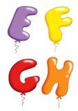 Μπαλόνια 2 παιχνιδιών αλφάβητου Στοκ φωτογραφία με δικαίωμα ελεύθερης χρήσης