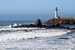 2加利福尼亚海岸灯塔 库存照片