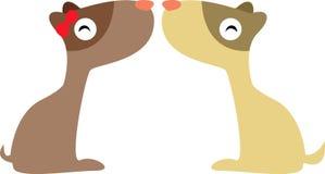 влюбленность 2 собаки Стоковое Изображение RF