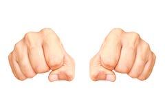 Кулак 2 человек Стоковая Фотография