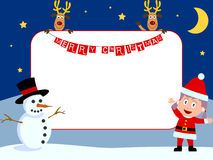 2圣诞节框架照片 免版税图库摄影