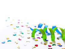 стекла украшения декора шампанского пустые над белизной шелка 2 партии Стоковые Изображения