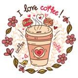 咖啡和杯形蛋糕2 免版税库存照片