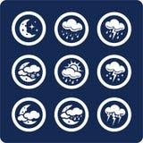 2 7 иконы разделяют установленную погоду Стоковые Изображения