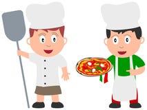 2个烹调工作孩子 库存图片