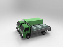 2 зеленых тележки на предпосылке Стоковая Фотография