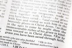 2:8 de Ephesians foto de archivo libre de regalías