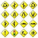 2 8 glansowany drogowy setu znaka wektor Fotografia Stock