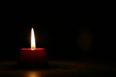 красный цвет 2 свечек Стоковая Фотография RF
