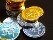 欧洲2枚的硬币 免版税库存图片