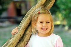 2 años lindos de la muchacha Imagenes de archivo