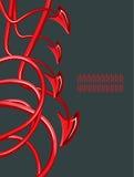 2 abstraktionjäkelsvanar stock illustrationer