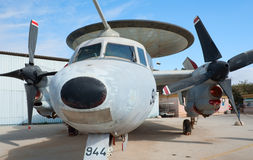 2 aew e Grumman hawkeye samolot Obrazy Stock