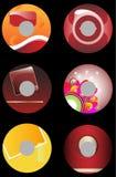 2 affärscds vektor illustrationer